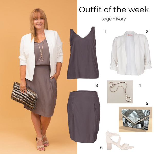 Outfit of the week: sage + ivory