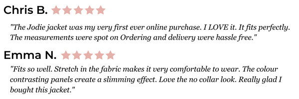 Reviews on our Jodie jacket by verified buyers