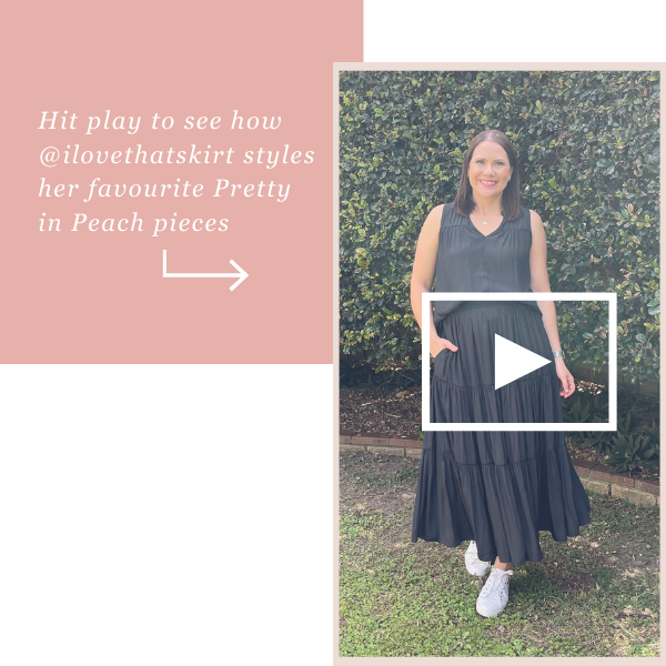 Video grid linking to instagram try on with Bec from @ilovethatskirt