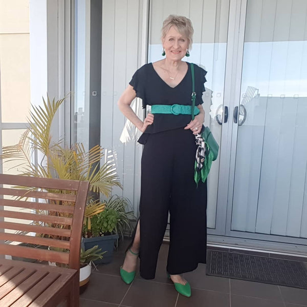 Picture of @Barb_styling in our Barbara Jumpsuit