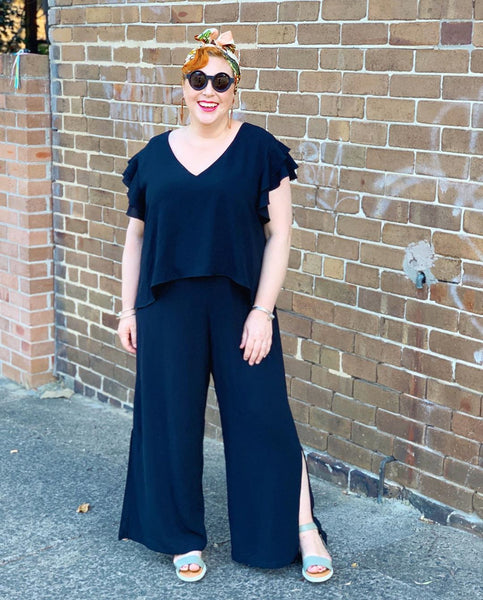 Image of @Kimbalikes in our Barbara Jumpsuit