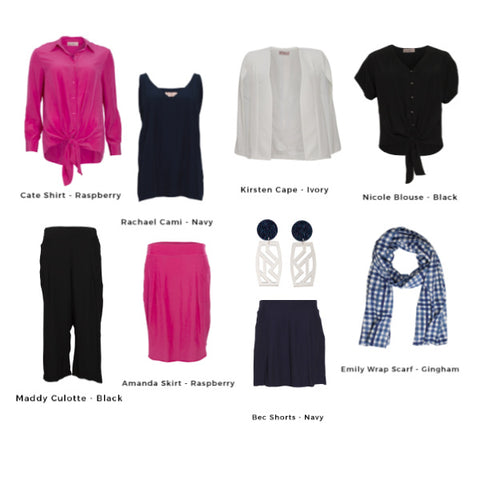 Examples of garments in the capsule