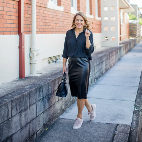 Ilovethatskirt Bec wearing Styling you the label workwear