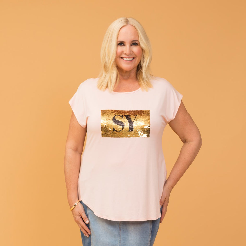 Styling You the Label Nikki sequin tee