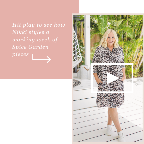 Click play to see how nikki styles our Spice Garden pieces