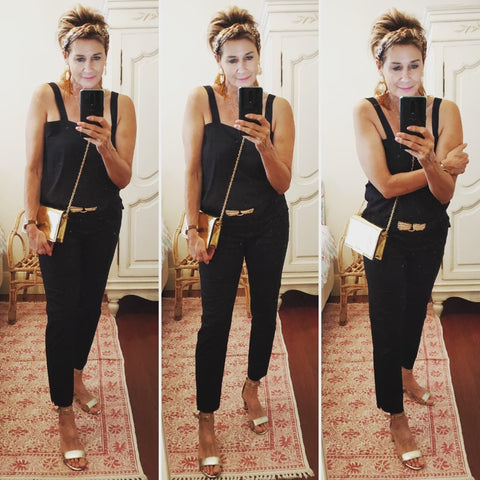 Suzie wearing our black Rachael Cami