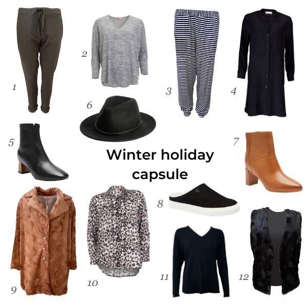 Winter holiday capsule grid