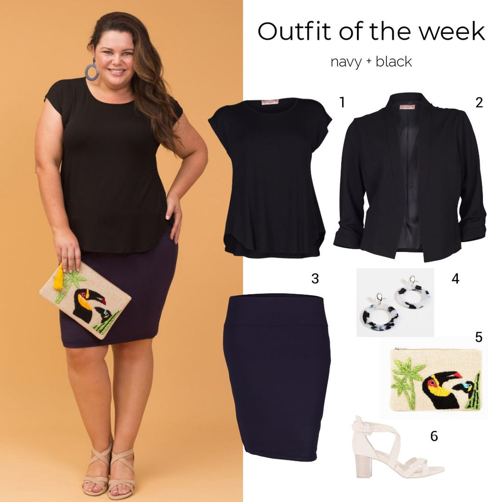 outfit of the week: navy + black