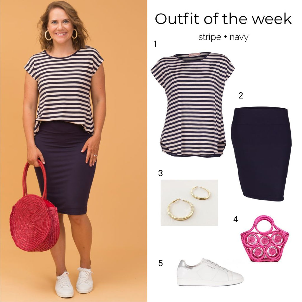 Outfit of the week, stripe + black