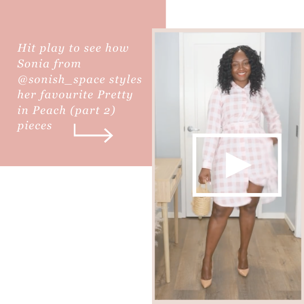 @sonish_space Pretty in Peach try on