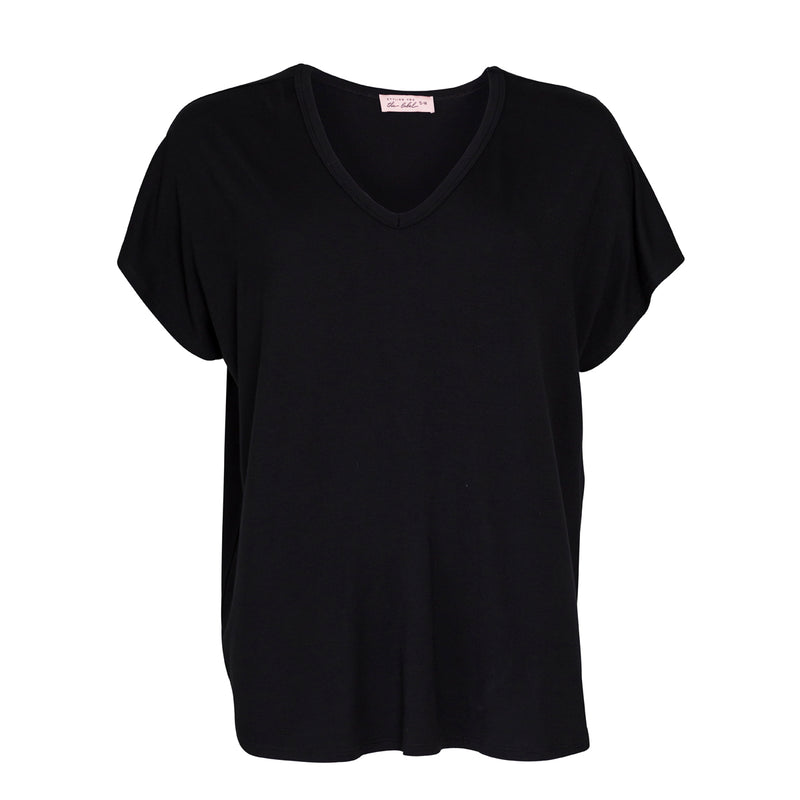 Alexa relaxed tee - black