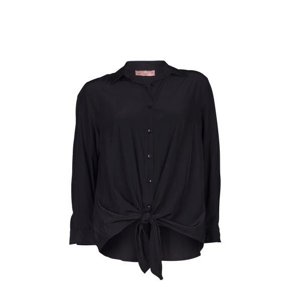 Mannequin image of Cate technical shirt black.