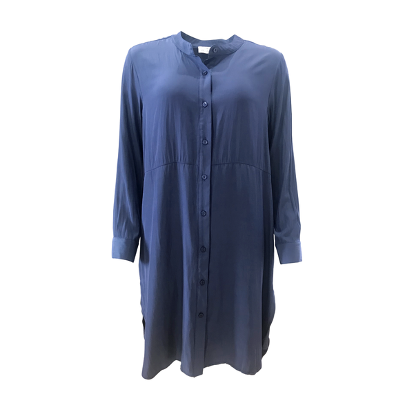 Danielle technical shirt dress - steel blue