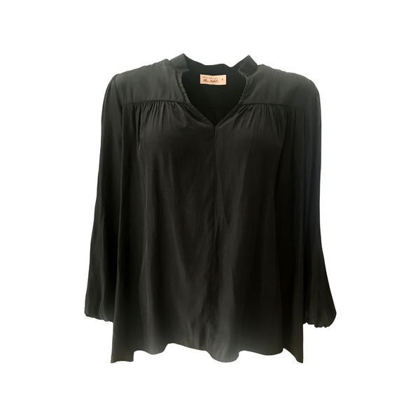 Felicity Billow sleeve blouse in black