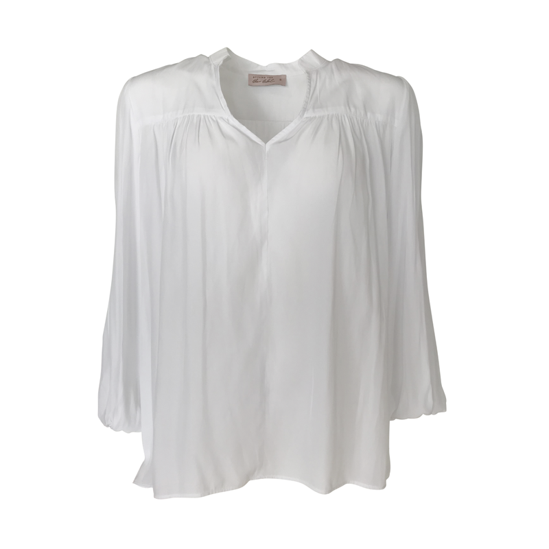 Felicity technical billow blouse - white