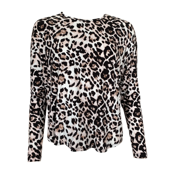 Ingrid Long sleeve tee in animal print