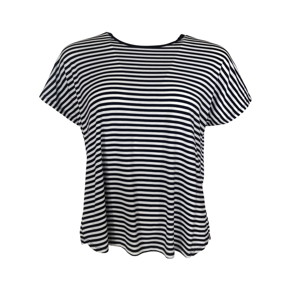 Melinda stripe tee in navy and white stripes