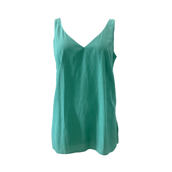 Rachael technical cami in green
