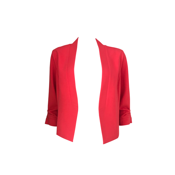 Our Karen scuba jacket in coral