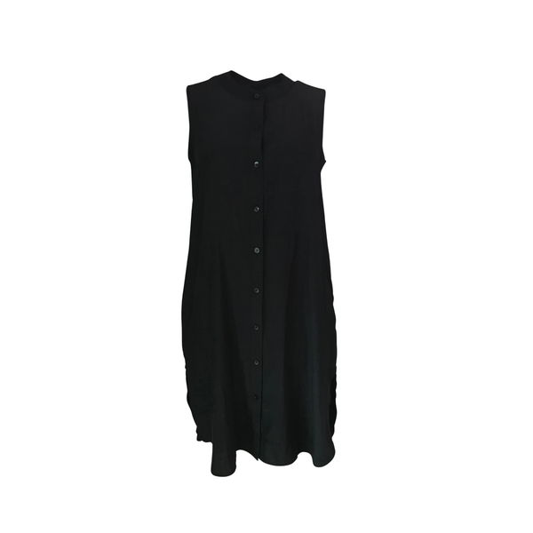 Our Katy technical sleeveless shirt-dress