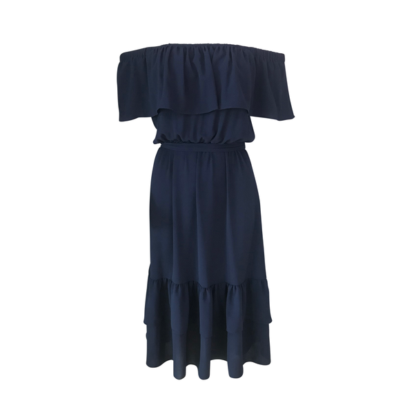 Natalie off-the-shoulder dress (navy)