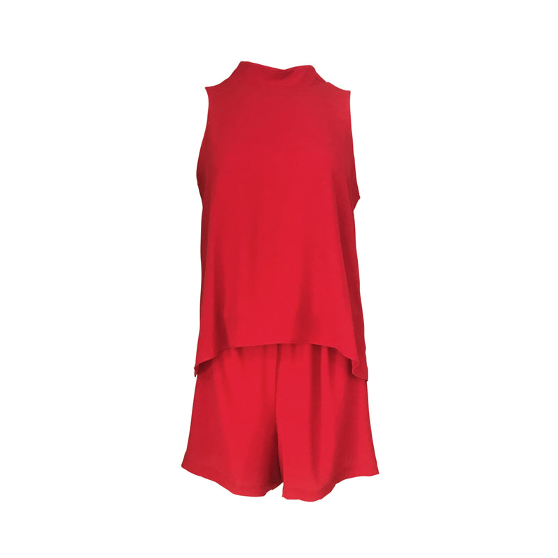 Sonia playsuit in red