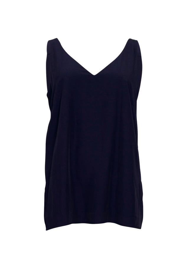 Rachael technical cami - navy (front)