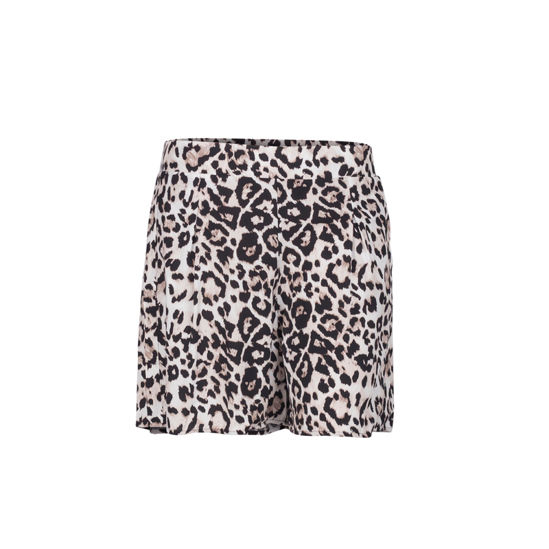 Gillian animal print shorts. Featuring a flat waistband which is elasticated at the back. Made in Australia from Rayon.