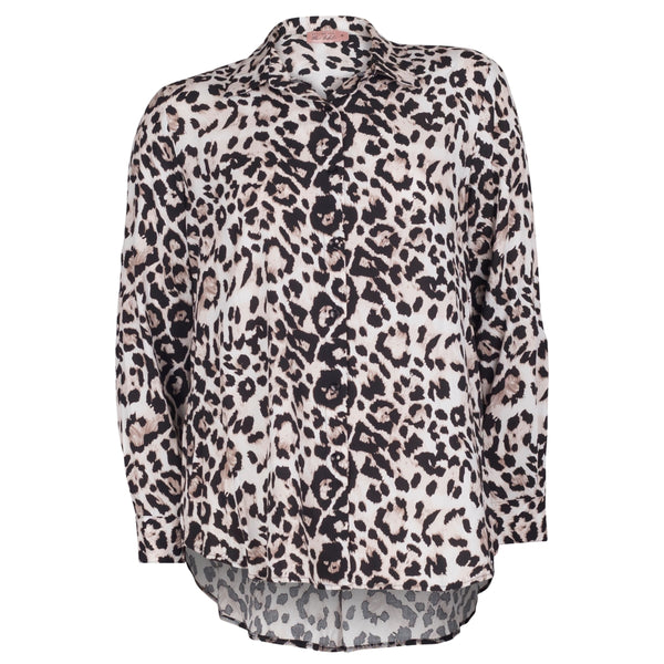 Simone animal print shirt