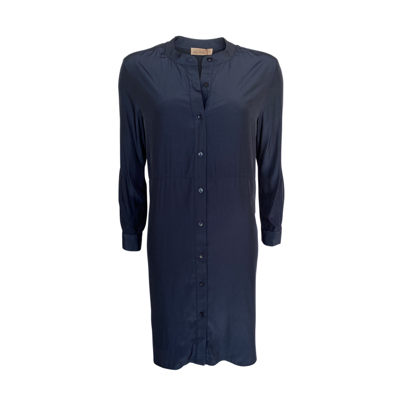 Our Danielle Technical shirt dress in navy