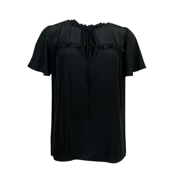 Kim technical blouse - black