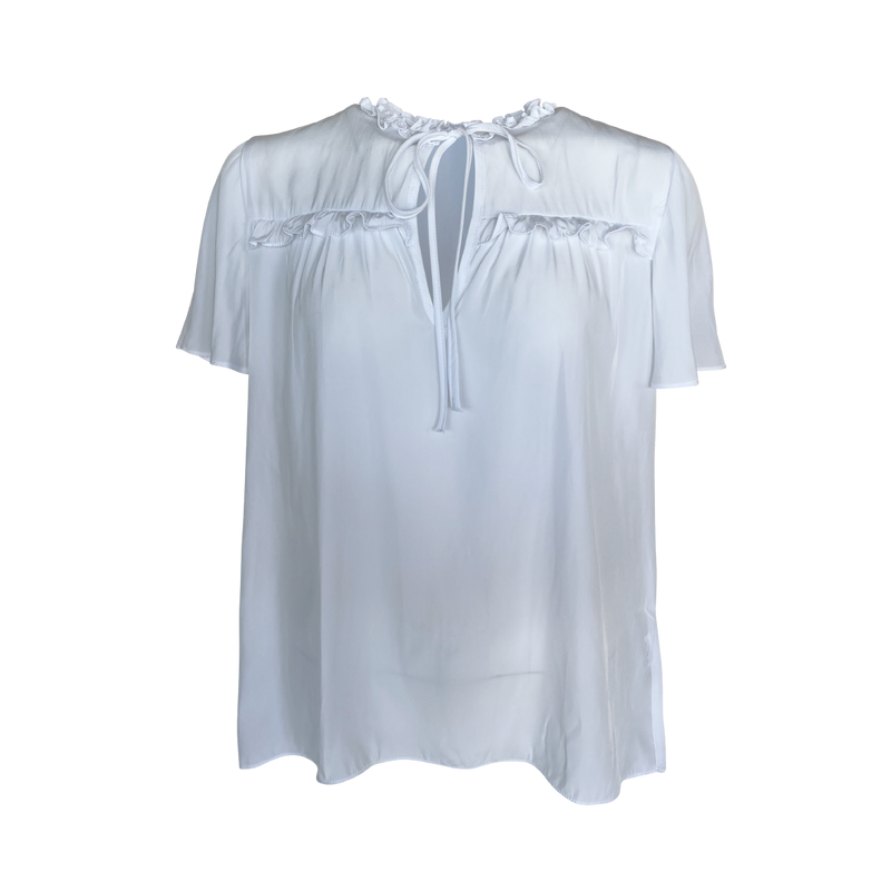 Our Kim technical blouse in white