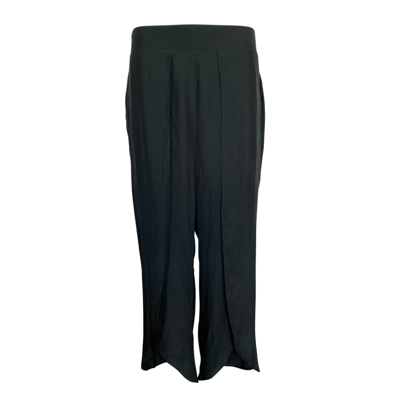 Maria technical split pant - black