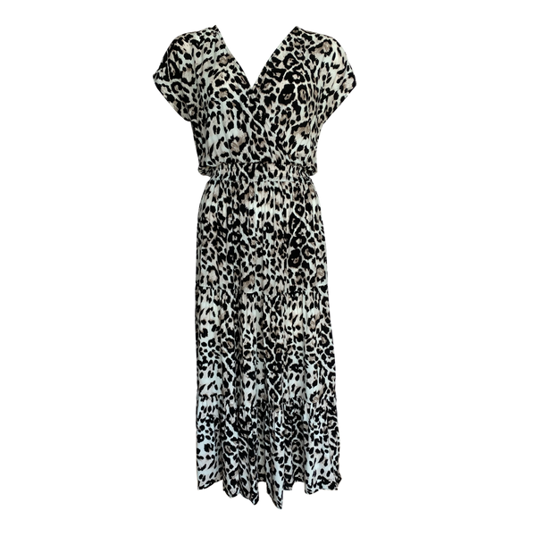 Whitney midi dress - animal print