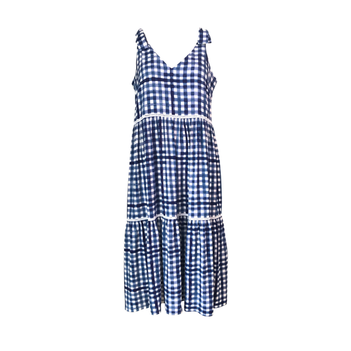 Vanessa tie-shoulder dress in gingham