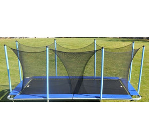 6x12 Rectangle Trampoline 9x15 Frame with Enclosure