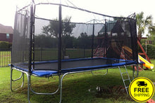 Load image into Gallery viewer, 10 x 17' Rectangular Trampoline  | Rectangular Trampoline with Enclosure Package