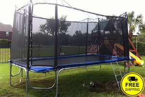 10 x 17' Rectangular Trampoline  | Rectangular Trampoline with Enclosure Package