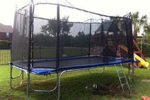 Load image into Gallery viewer, 10x17 usa made trampoline with enclosure