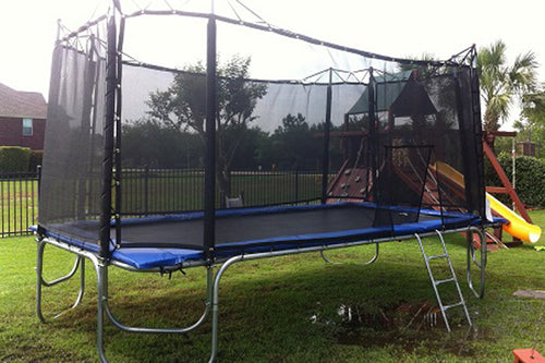 10x17 usa made trampoline with enclosure