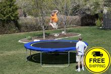 12ft Trampoline | 12' Round Medalist Trampoline with Vented Pad & Retaining Wall Bundle