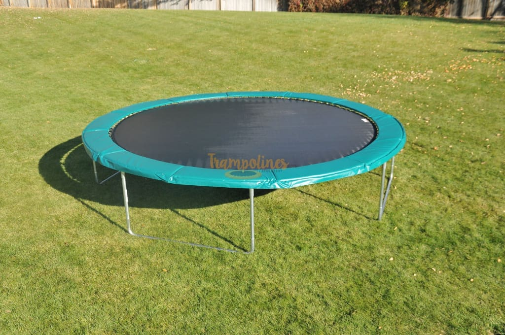 14ft Trampoline No Enclosure / Green