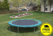 Load image into Gallery viewer, 14' Round Medalist Trampoline with TDU Vented Pad & Retaining Wall Bundle