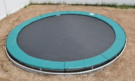 15' Round All American Trampoline with Inground Kit