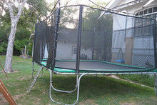 Load image into Gallery viewer, 15x17 usa made trampoline with enclosure
