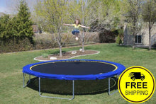 Load image into Gallery viewer, 16' Round Medalist Trampoline with Vented Pad & Retaining Wall Bundle