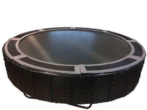14' Round Medalist Trampoline with TDU Vented Pad & Retaining Wall Bundle