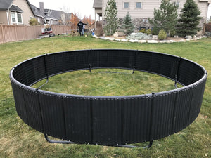16' Round Medalist Trampoline with Vented Pad & Retaining Wall Bundle