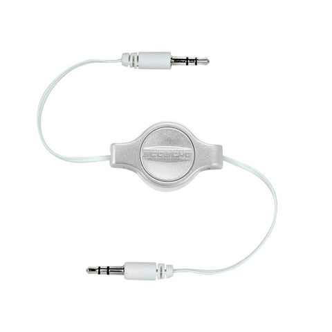 SCOSCHE Replay 3.5mm Retractable Auxiliary Audio Cable 3-foot