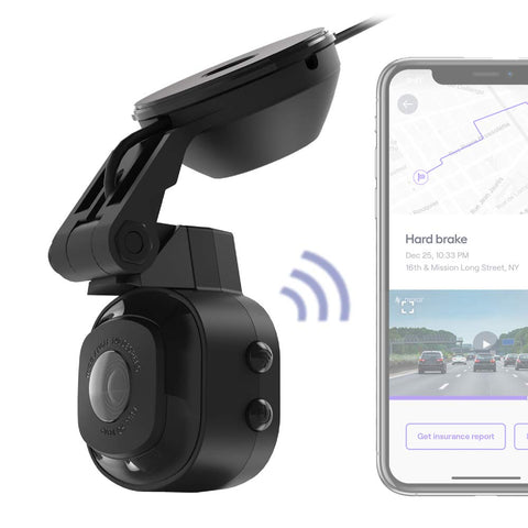 SCOSCHE Full HD Smart Dash Cam with Suction Cup Mount